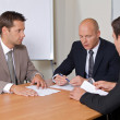 Businessmen in meeting at board room — Stock Photo #3829000