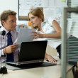 Stock Photo: Office love affair concept