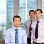 Three businessmen at office, portrait — Stock Photo