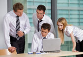 Business team working in office — Stock Photo