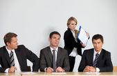Portrét podnikání v úřadu — Stock fotografie