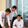 Businessmen working in office — Stock Photo