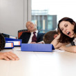 Young business team exchausted and over worked — Stock Photo #3838594