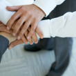 Business group connecting hands — Stock Photo #3838671