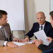 Businessmen in meeting at board room — Stock Photo #3839332