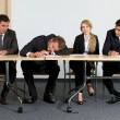 Business sitting in office — Stock Photo