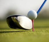 A golf club on a golf course — Stock Photo