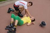 Skater injured — Stock Photo