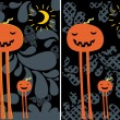 Halloween postcards. — Stock Vector