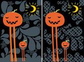 Halloween postcards. — Stock Vector