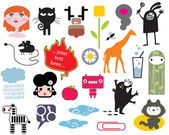 Mix of different vector images. vol.2 — Stock Vector