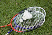 Badminton and rackets — Foto de Stock
