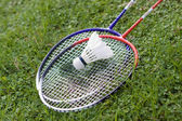 Badminton and rackets — Stock Photo