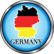 Germany Round Button — Stock Vector