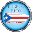 Puerto Rico Round Button — Stock Vector