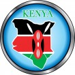 Kenya Round Button — Stock Vector