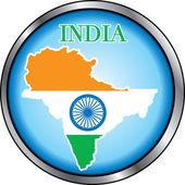 インドの丸いボタン — ストックベクタ