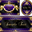 Royalty-Free Stock ベクターイメージ: Royal Template Set Purple