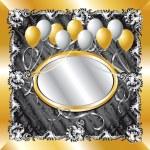 Gold & Silver Balloon Background — Stock Vector