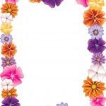 Flower Border — Stock Vector