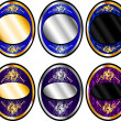 Royalty-Free Stock ベクターイメージ: Oval Template Set 1