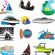 Stock Vector: Boats