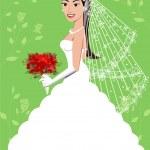 Wedding Gown 5 — Stock Vector