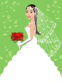 Wedding Gown 5 — Stock Vector