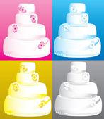 Wedding Cakes — Stock Vector