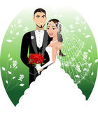 Bride Groom — Stock Vector
