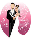 Newly Weds — Stock Vector