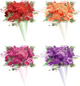Bouquets — Stock Vector