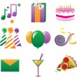 Party Icons 3 — Stock vektor