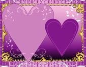 Purple Lavender Template — Stock Vector