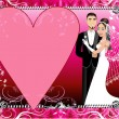 Royalty-Free Stock Vector Image: Red Silver Wedding Template