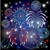 July 4th Fireworks — Stock Vector
