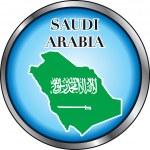 Saudi Arabia Round Button — Stock Vector