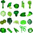 Stock Vector: Green Veggies