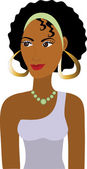 Afro Girl Avatar — Stock Vector