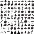 100 Icon Set 3 - Stock Vector
