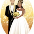 Newly Weds 3 — Stock Vector