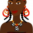 Stock Vector: AfricGirl Avatar