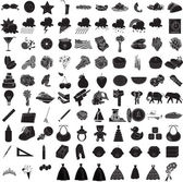 100 Icon Set 3 — Stock Vector