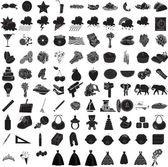 100 Icon Set 3 — Stock Vector