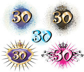 30th Birthday or Anniversary — Vector de stock