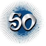 50th Birthday or Anniversary — Stock Photo