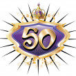 50th Birthday or Anniversary — Stock Photo