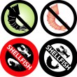 No Shellfish Sign - Stock Vector