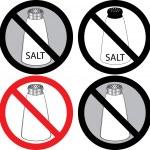 塩の兆候κανένα σημάδι οστρακοειδή — ストックベクタ #3718532