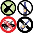 No Drinking Sign 3 — Stock Vector